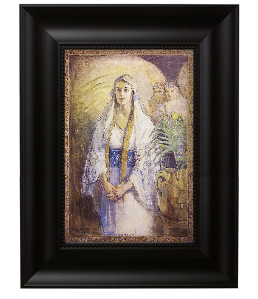 Queen Esther canvas in black frame