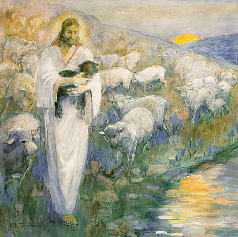 Rescue of the Lost Lamb Minerva Teichert Painting