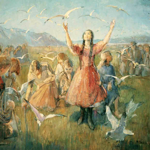 Minerva Teichert's Betty and the Seagulls - LDS paintings
