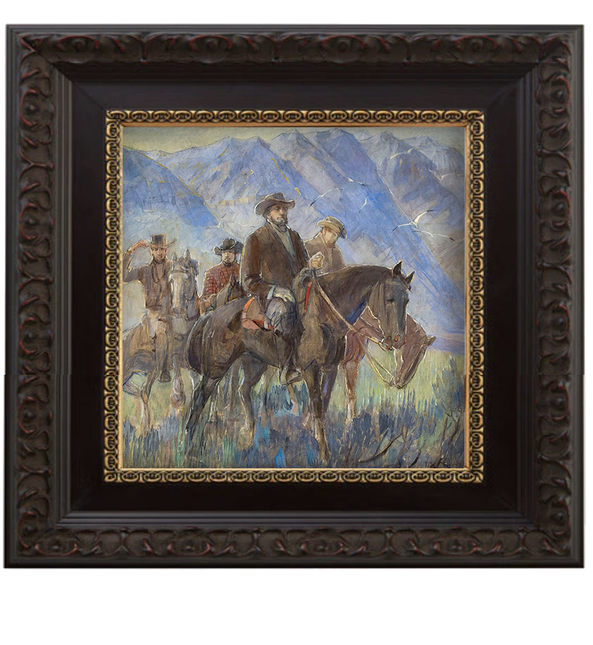 Brigham Young brushed mahogany and gold frame.png