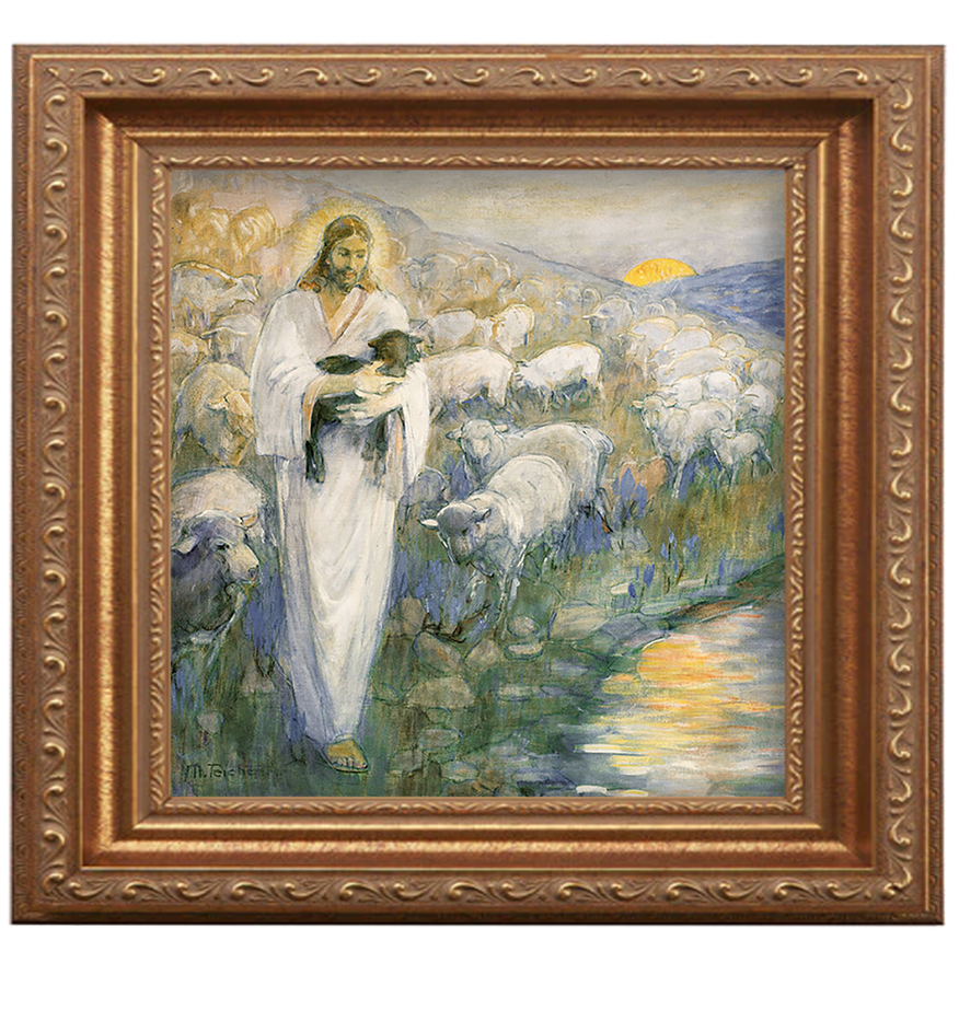 The Rescue of the Lost Lamb painting by Minerva Teichert