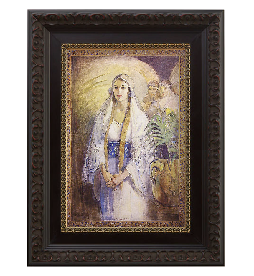 Framed canvas of Queen Esther - Painting from Minerva Teichert