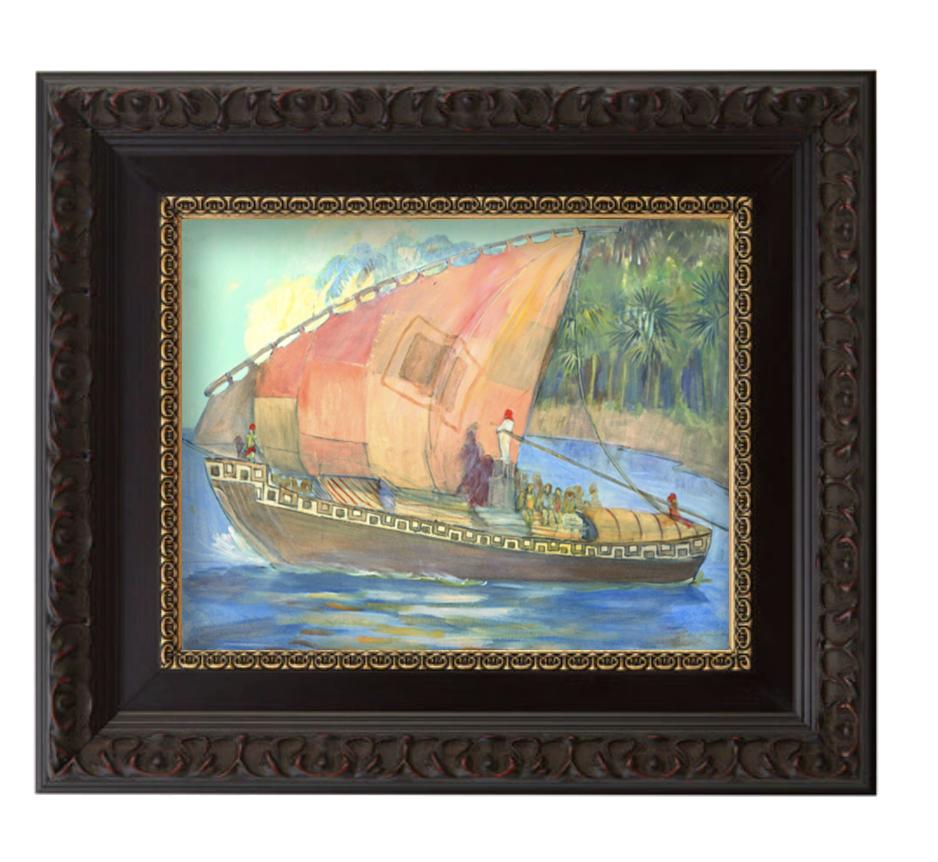 Ship of haggoth brushed mahogany and gold frame.png