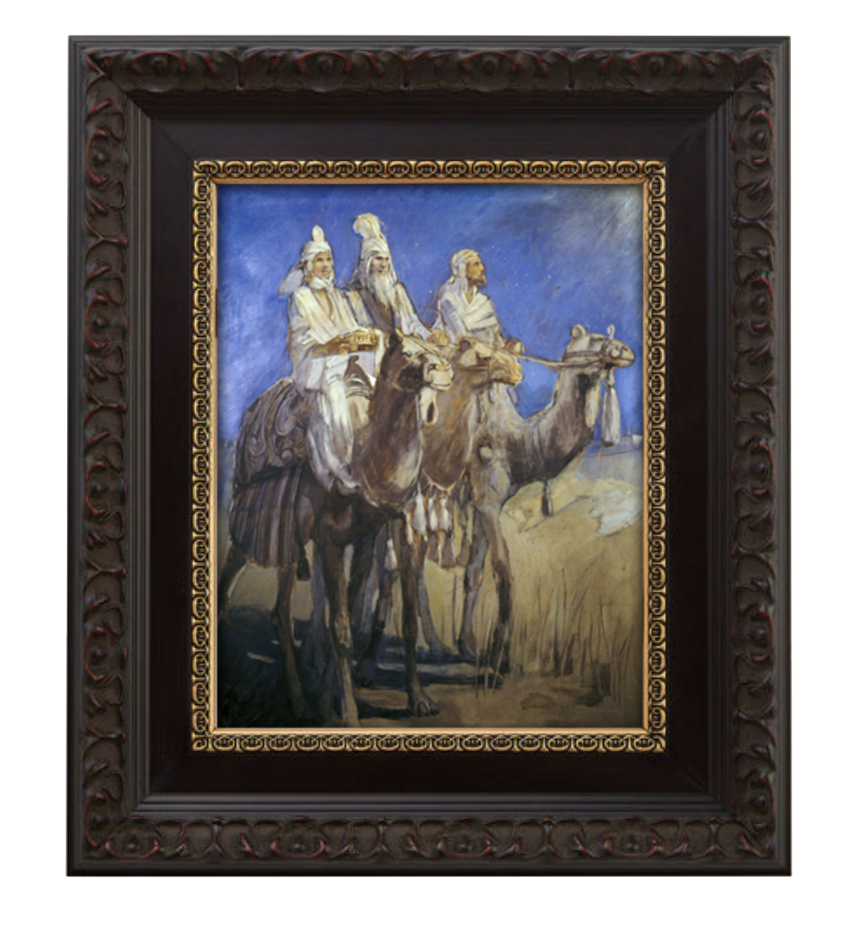 Framed canvas of The Three Wise Men painting from Minerva Teichert - LDS artist