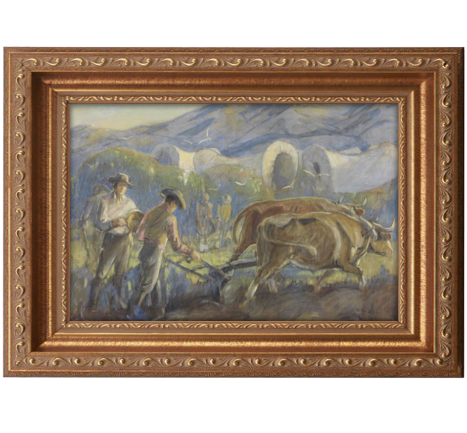 brigham young antique gold frame.png