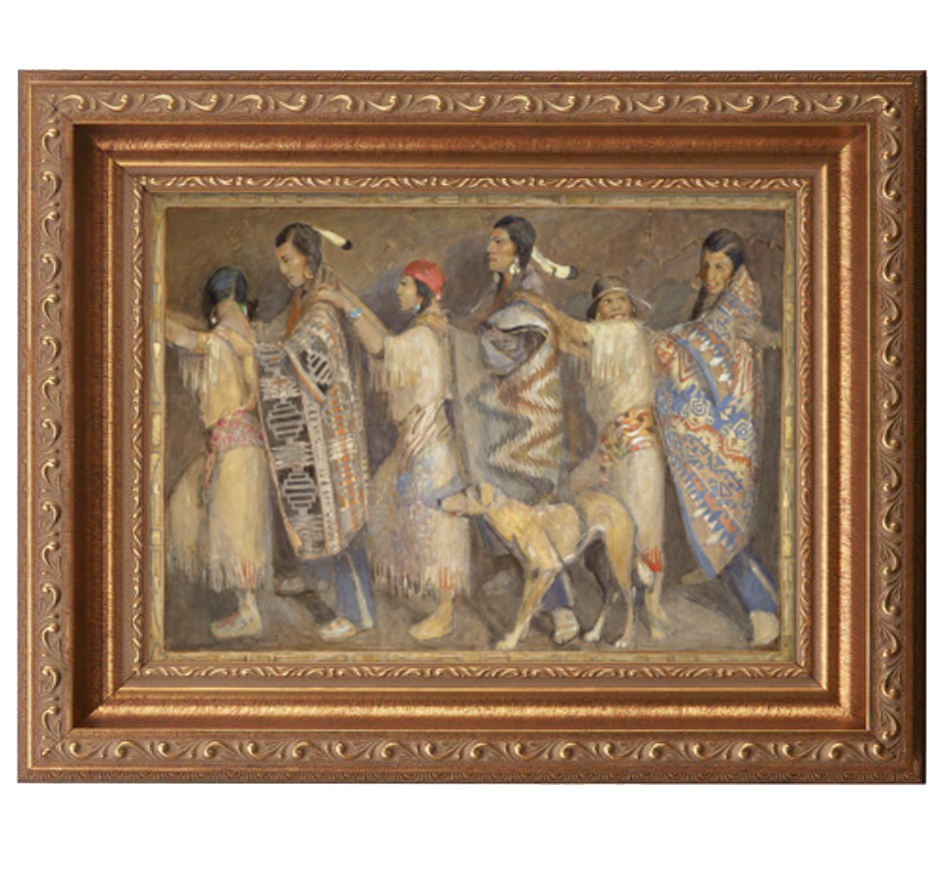 courting dance antique gold frame.png