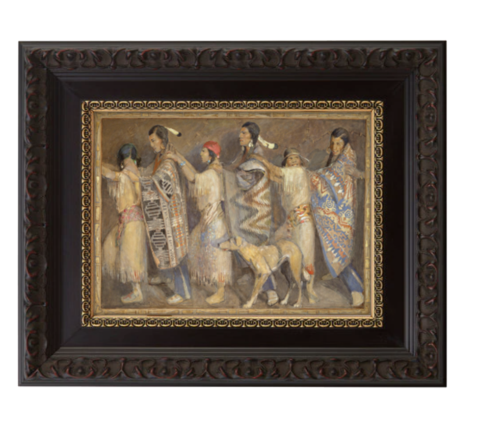 courting dance brushed mahogany and gold frame.png