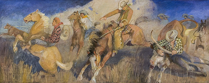 Day at the Rodeo Minerva Teichert Painting