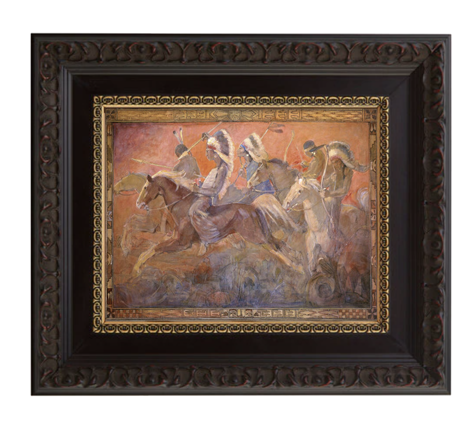 last battle brushed mahogany and gold frame.png