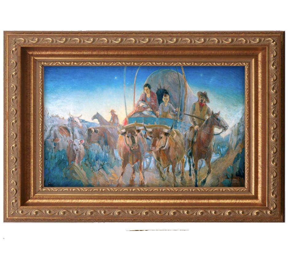 madonna at dawn antique gold frame.png