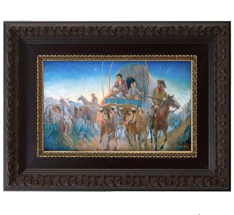madonna at dawn brushed mahogany and gold frame.png