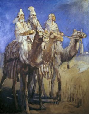 Mormon Painting of Three Wise Men from Minerva Teichert