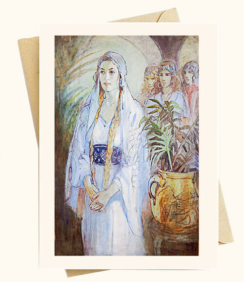Queen Esther painting on Note cards