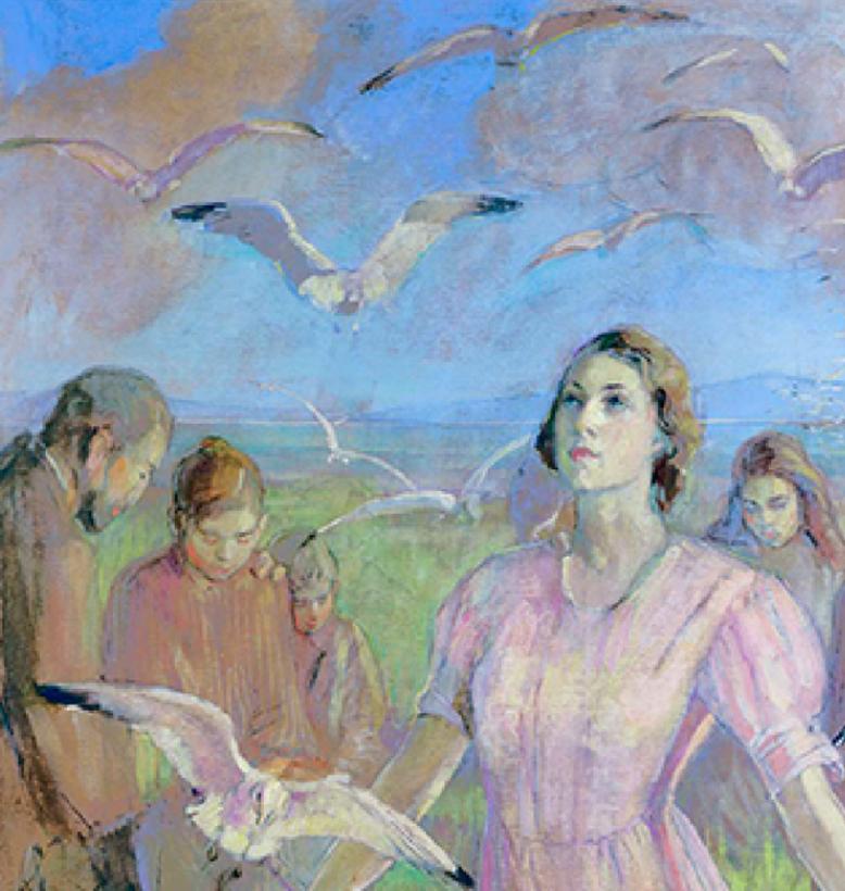 Pioneer artwork - Minerva Teichert Miracle of the Gulls