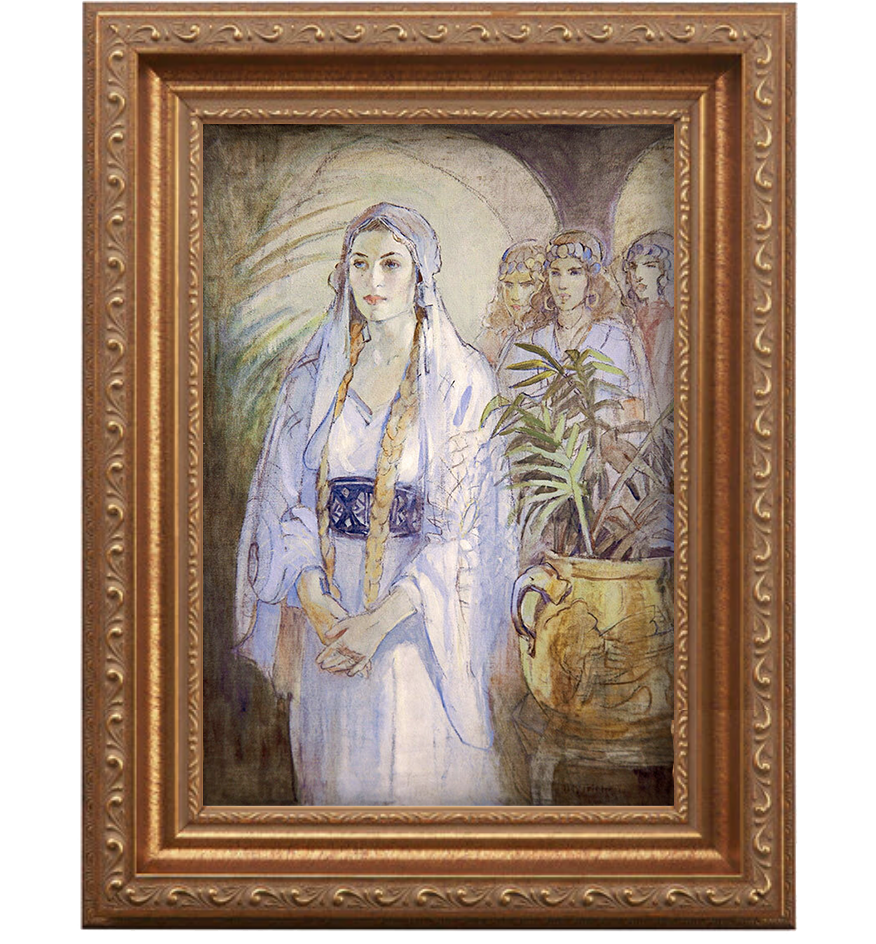 Framed Canvas of Queen Esther painting- Art from LDS artist Minerva Teichert