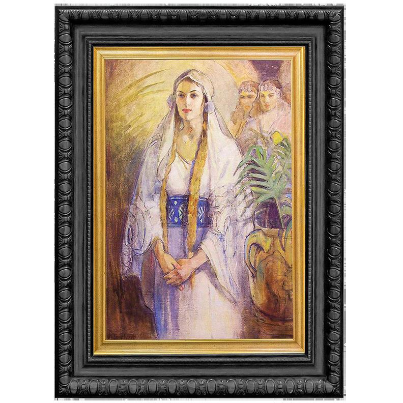 Framed LDS canvas of Queen Esther from Minerva Teichert