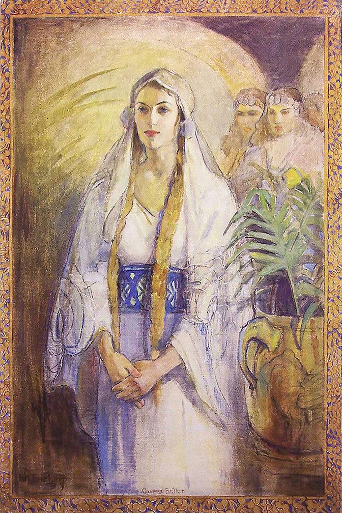 Queen Ester painting - Art from LDS artist Minerva Teichert