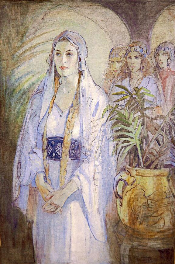Painting of Queen Ester by Minerva Teichert - Mormon artist